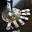 Flip Flop Wine Glass Charms (Set of 6)