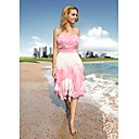 Sheath/ Column Sweetheart Knee-length Chiffon Satin Ready-to-Wear Cocktail Dress