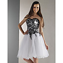 Ball Gown Sweetheart Knee-length Tulle And Lace Cocktail/ Homecoming Dress