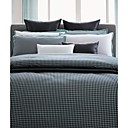 Yarn-dyed Cotton Satin 3-piece Queen Duvet Cover Set (Grid)