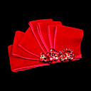 Gorgeous Red Satin With Rhinestones Wedding Bridal Headpiece