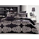 Noble Yarn-dyed Jacquard Satin 3-piece King-size Duvet Cover Set