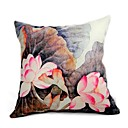 Cushion Cover-Brush Painting lotus I