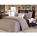 Cotton yarn-dyed Jacquard Satin 3-piece King-size Duvet Cover Set