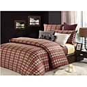 Cotton Yarn-dyed Jacquard Satin 3-piece Queen Duvet Cover Set