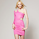 TS Hot Pink One Shoulder Cut Out Dress