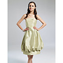 Ball Gown Strapless Knee-length Taffeta Bridesmaid Dress