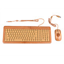 T2B109-NN 109 Key Half Bamboo Keyboard and Mouse