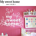 sweet home decoratieve muur sticker (0565-1105032)
