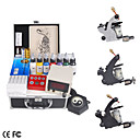 professionelle Tattoo Maschine Kit mit 3 Pistolen