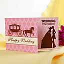 &quot;Royal Carriage&quot; Vintage Style Folded Wedding Invitation (Set of 60)