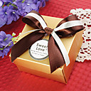 Square Favor Box With Double Bow (Set of 12)