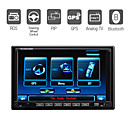 "7""Digital Touch Screen 2 Din Car DVD Player-GPS-PIP-Radio-TV-BT-iPod-Steering Wheel Control"