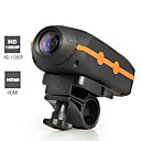 Camern - HD 1080p impermeable cmara de deportes de accin con pantalla LCD + lente gran angular
