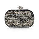 Stainless Steel Shell With Lace Evening Handbags/ Clutches More Colors Available