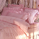 Barbara Satin Jacquard 6-piece King-size Duvet Cover Set (Pink)