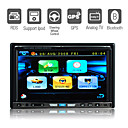 7 Inch Digital Screen 2 Din Car DVD Player Support GPS IPOD Bluetooth TV Steering Wheel Control