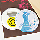 Personalized Bottle Opener/Fridge Magnet - Bride and Groom (set of 12)