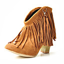 Suede Upper Chunky Heel Ankle Boots With Tassel Party/ Evening Shoes More Colors Available