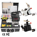 2 kit de tatouage fusils avec cran LCD de puissance et 20 d'encre couleur