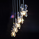 100W Pendant Light with 5 Lights Crystal Floral Shape Featured(G4 Bulb Base)