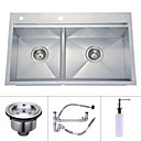 31 inch Undermount Stainless Steel Kitchen Sink (Double bowl)