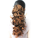 High Quality Synthetic 18.50&quot; Curly Natural Dark Brown Ponytail