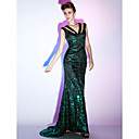 Sequined Sheath/Column V-neck Floor-length Evening Dress inspired by Scarlett Johansson