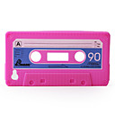 Protective Unique Cassette Soft Case for iPhone 4 (Peach)