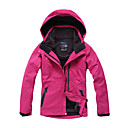 Eamkevc - Womens Waterproof Breathable Warm Ski Jacket Three-in-one Big Front Pocket Solid Color