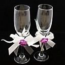 Rose Garden Wedding Toasting Glasses