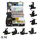 7 Guns Tattoo Kit with  LCD Power and 55 Color Ink + Free 60ml Black Ink