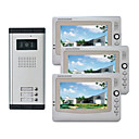 Infrared Video Door Phone System (3 LCD Screens, Easy Installation)