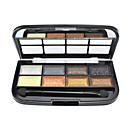 LA 8 color eye shadow Palette with Free Brush(6#)