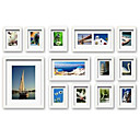 White Photo Wall Frame Collection - Set of 13