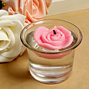 Floating Rose Candle with Cup (set of 4)