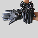 Faux Leather Fingertips Wrist Length Party/ Evening Gloves