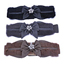 TS Rabbit Fur Flower Crystal Elastic Belt