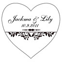 Personalized Heart Favor Stickers - Joy (pack of 90)