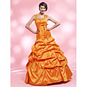 Trumpet/Mermaid Straps Floor-length Taffeta Evening Dress