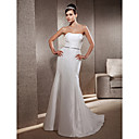 Elegant Trumpet/Mermaid Sweetheart Sweep/ Brush Train Taffeta Wedding Dress