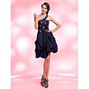 A-line One Shoulder Asymmetrical Taffeta Cocktail Dress