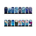 12st nail art folie armor wraps patch stickers-blauw-serie