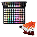 88 Colors Eye Shadow and Cosmetic Brushes Set