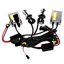 h4 Xenon HID kit avec de fines mtalliques ballast 55w, ampoules flexbie