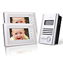 twee 7 inch kleuren TFT LCD video deurtelefoon intercom systeem (1 legering camera)