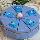 Cute Bear Light Sky Blue Cake Favor Box (Set of 10)