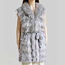 Genuine Raccoon/Rabbit Fur Vest