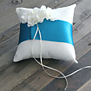 Rhinestone Bloom Ring Pillow With Azure Sash