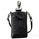 Women's Braided Faux Leather Cell Phone Holder
